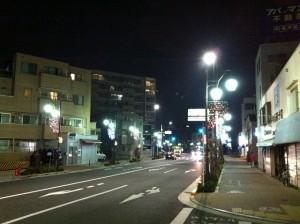 千川駅周辺のイルミネーション
