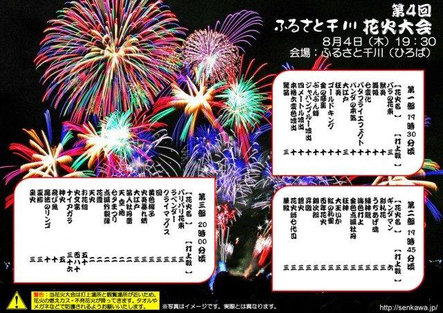 第4回 ふるさと千川 花火大会 プログラム