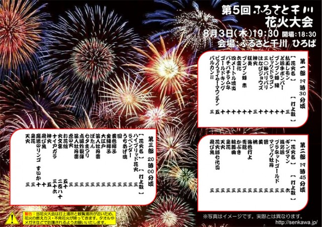 第5回 ふるさと千川 花火大会 プログラム